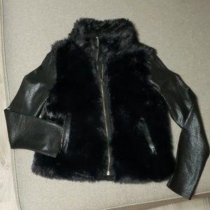 Girl's DKNY Faux Fur Coat